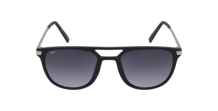 Óculos de sol homem NIERES BK preto/prateado - Vista de frente