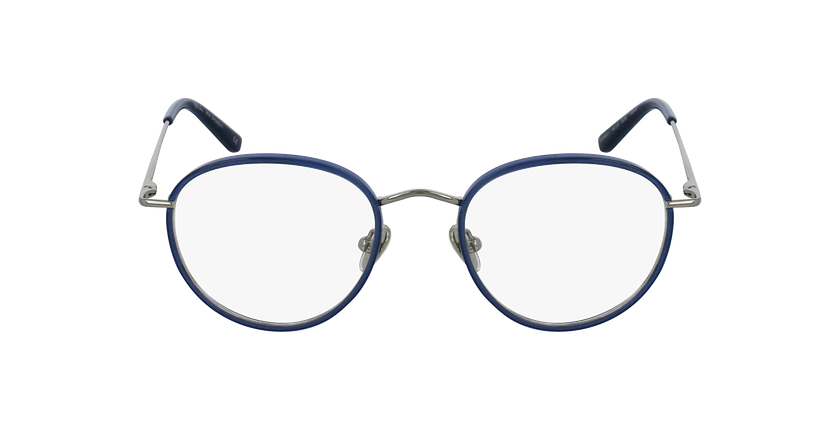 Óculos graduados SHUBERT BL prateado/azul - Vista de frente