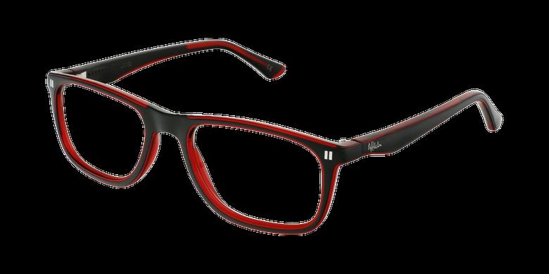 Óculos graduados criança REFORM TEENAGER (J3BKRD) preto/vermelho
