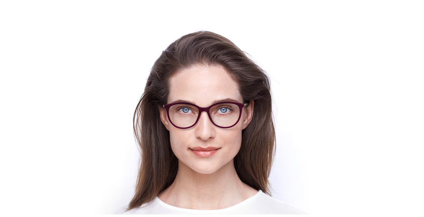 Óculos graduados senhora ALEXA PU (TCHIN-TCHIN +1€) violeta - Vista de frente