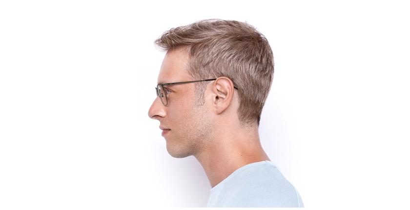 Lunettes de vue homme ARGON marron/doré - Vue de côté