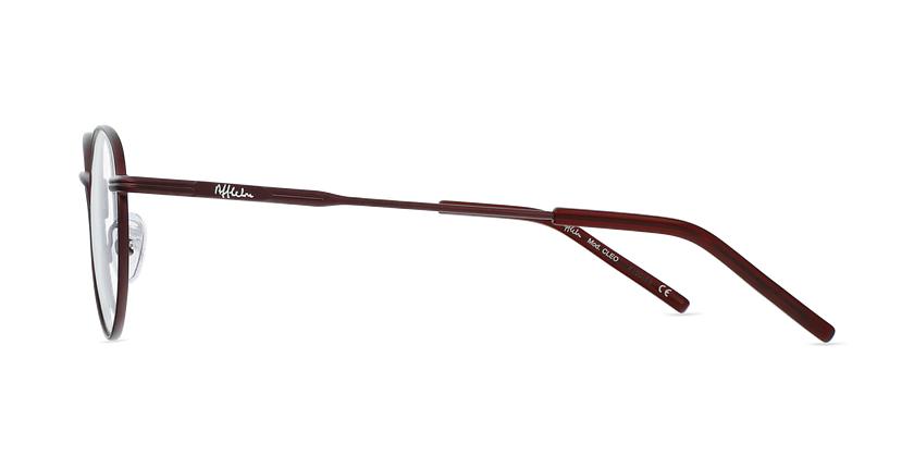 Óculos graduados CLEO BU (TCHIN-TCHIN +1€) vermelho - Vista lateral