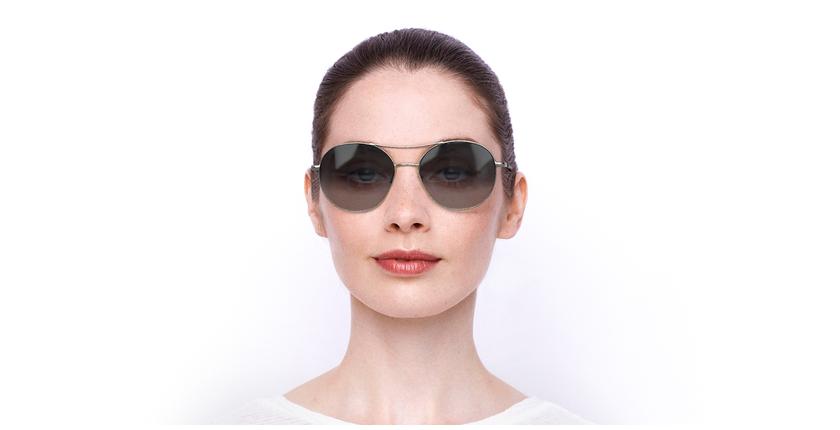 Lunettes de soleil femme BA5005S argenté - Vue de face