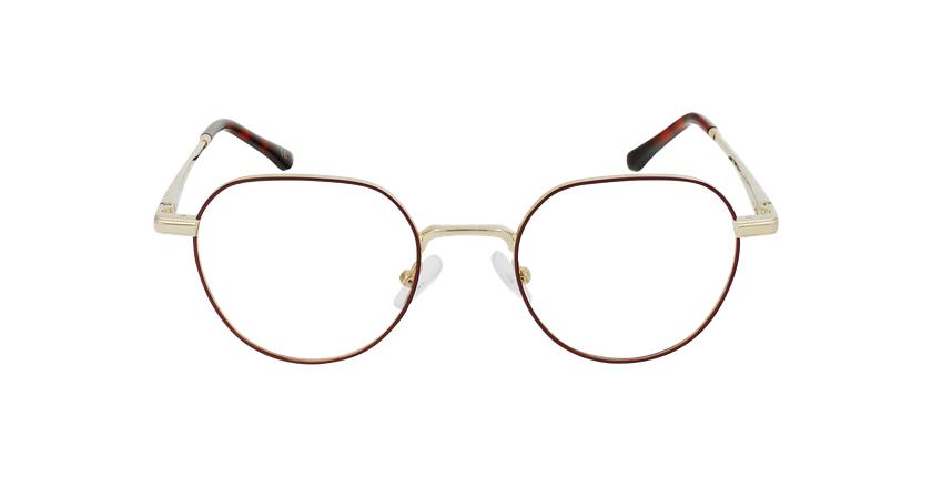 Óculos graduados MAGIC 95 BU vermelho/dourado - Vista de frente
