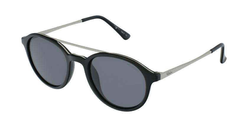 Óculos de sol GLENN BK preto/prateado - vue de 3/4
