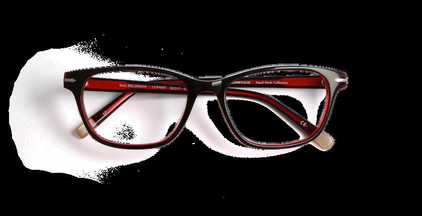 Lunettes de vue femme BELGRAVIA rouge - vue de face