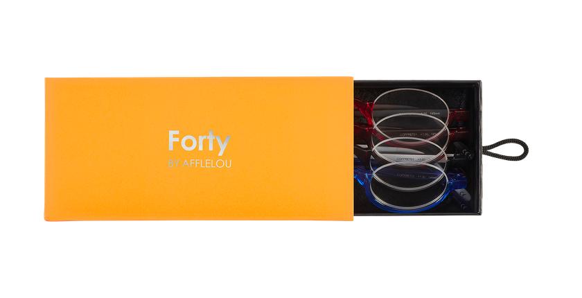 Lunettes de vue COFFRET01 orange - Vue de face