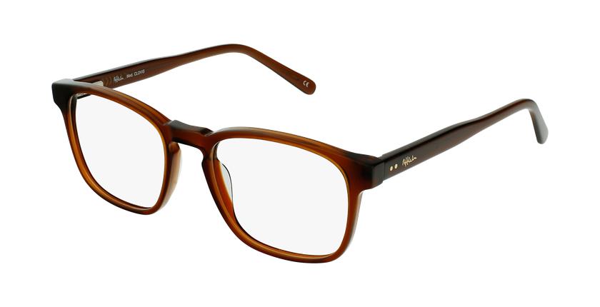 Óculos graduados homem CLOVIS BR (TCHIN-TCHIN +1€) castanho - vue de 3/4