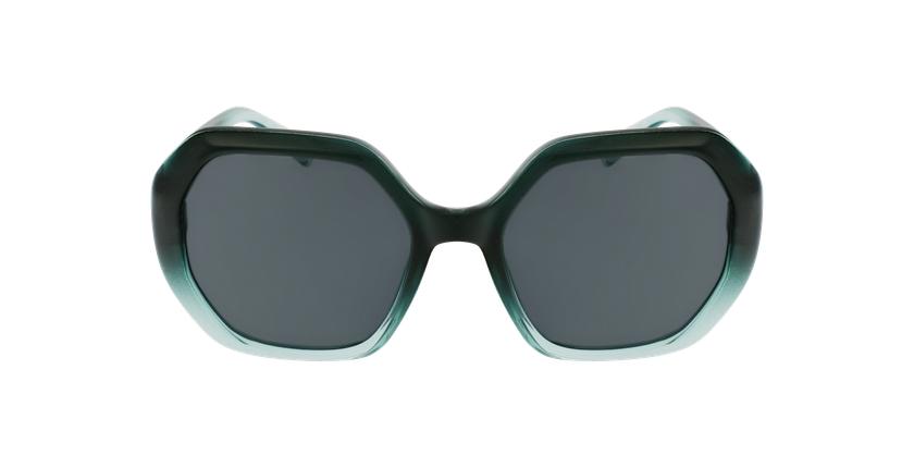 Lunettes de soleil femme FAURA vert/noir - Vue de face