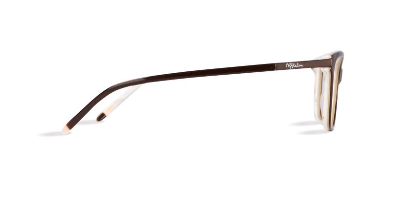 Lunettes de vue femme MEDICIS marron/marron - Vue de côté