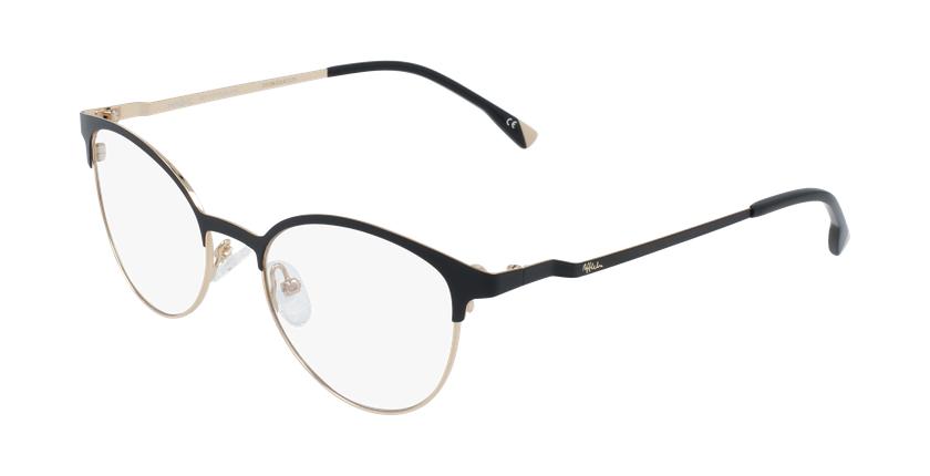 Óculos graduados senhora MAGIC 54 BLUEBLOCK - BLOQUEIO LUZ AZUL preto/dourado - vue de 3/4
