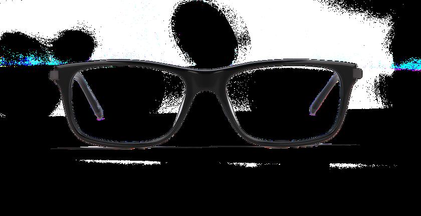 Gafas graduadas hombre ORSAY negro - vista de frente