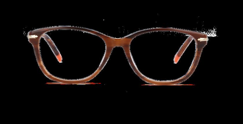 Lunettes de vue femme CHESTER marron - vue de face