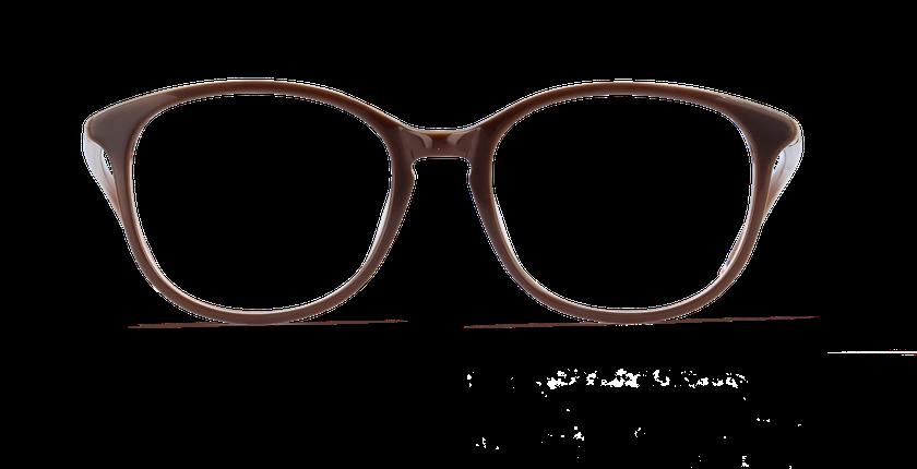 Lunettes de vue femme FRAGONIA marron - vue de face