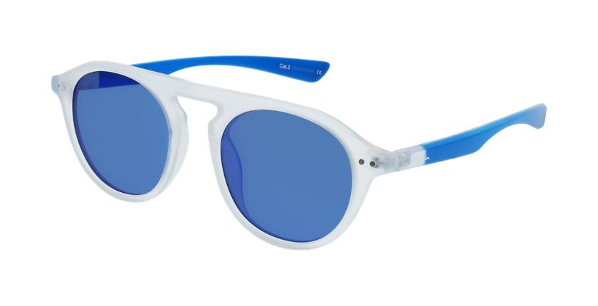 Óculos de sol BORNEO POLARIZED CRBL branco/azul - vue de 3/4