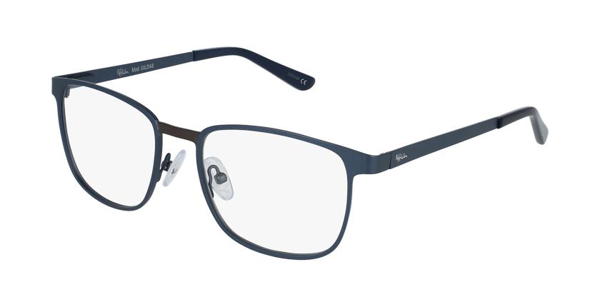 Óculos graduados homem Gildas blgu (Tchin-Tchin +1€) azul/cinzento - vue de 3/4
