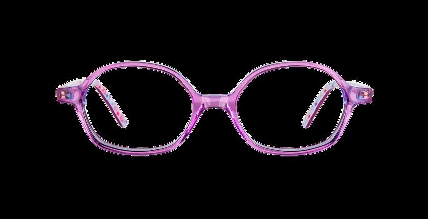 Lunettes de vue enfant FLUFFY rose - Vue de face