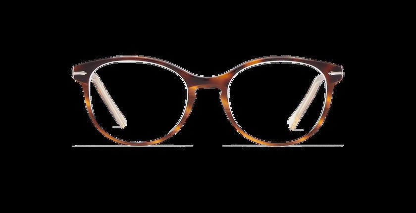 Óculos graduados senhora BELLEFONTAINE tartaruga /prateado - Vista de frente