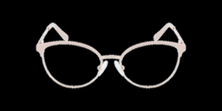 Lunettes de vue femme FAUSTINE rose/doréVue de face
