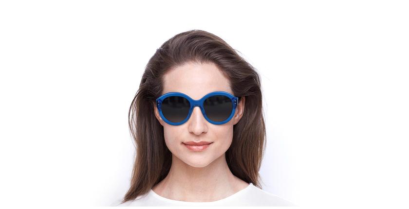 Óculos de sol senhora ALYSSA SAF azul - Vista de frente