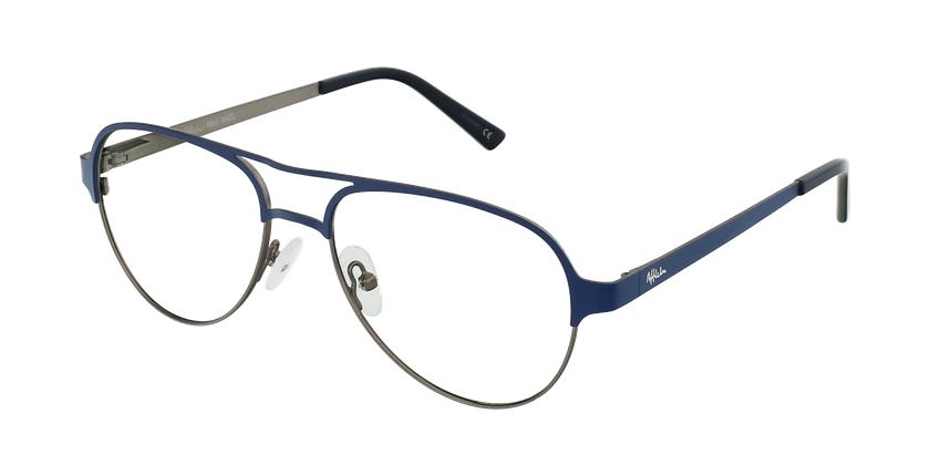 Óculos graduados NAEL BL (TCHIN-TCHIN +1€) azul/prateado - vue de 3/4