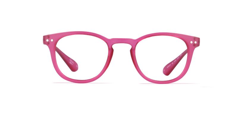 Óculos graduados MOD01P rosa - Vista de frente