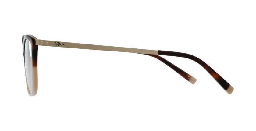 Lunettes de vue femme BEETHOVEN écaille/beige - Vue de côté