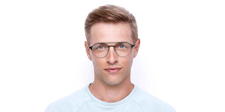 Óculos graduados homem MAGIC 52 BLUEBLOCK - BLOQUEIO LUZ AZUL preto/cinzento