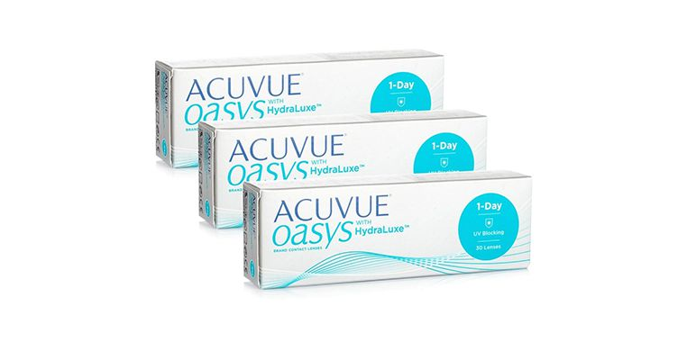 Lentilles de contact Acuvue® Oasys 1 Day with Hydraluxe 90L
