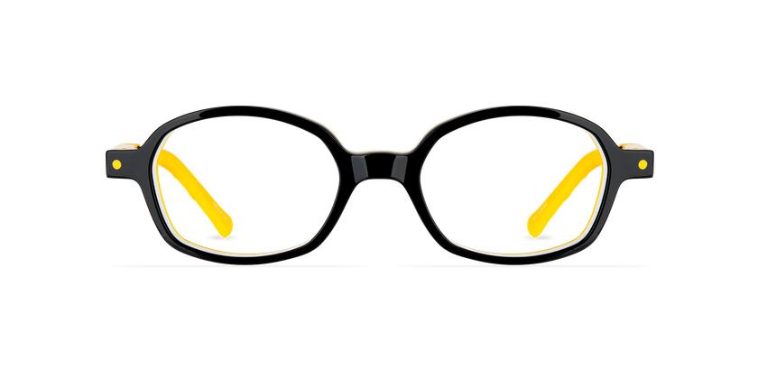 Lunettes de vue enfant CARL2 noir/jaune - Vue de face