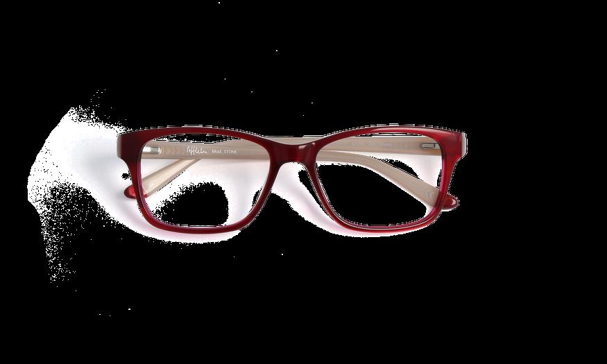 Lunettes de vue femme STONE rouge