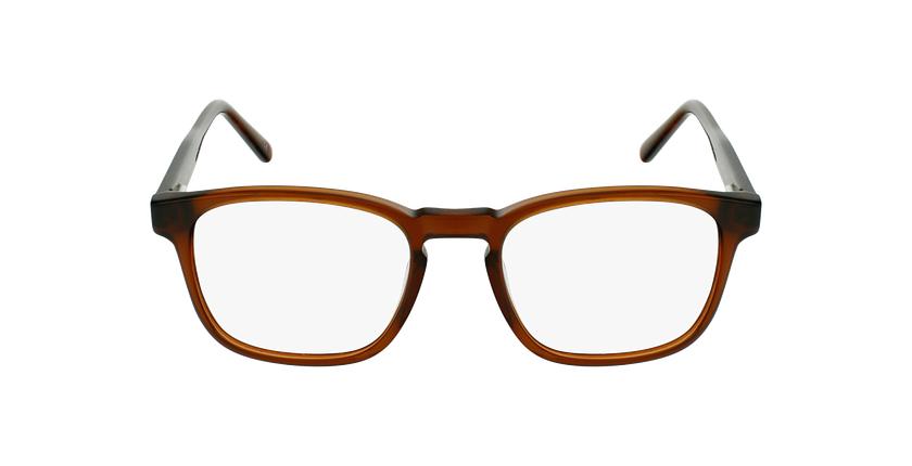 Óculos graduados homem CLOVIS BR (TCHIN-TCHIN +1€) castanho - Vista de frente