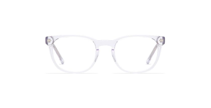 Lunettes de vue homme LUCAS blanc - Vue de face