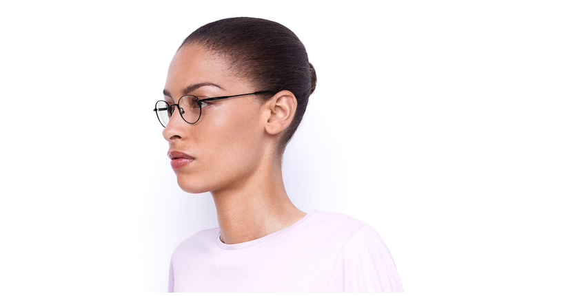 Óculos graduados CLEO BK (TCHIN-TCHIN +1€) preto - vue de 3/4