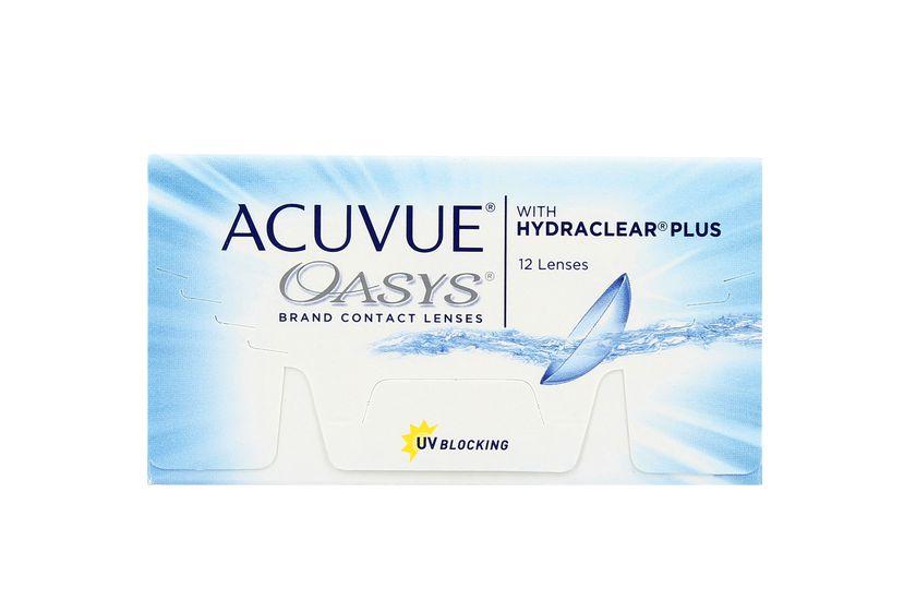 Lentilles de contact Acuvue® Oasys® with Hydraclear® Plus 12L - vue de face