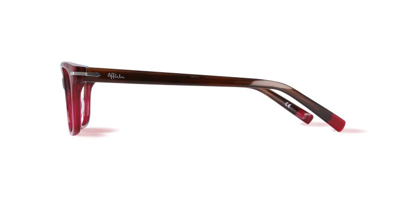 Óculos graduados senhora PLYMOUTH vermelho - Vista lateral