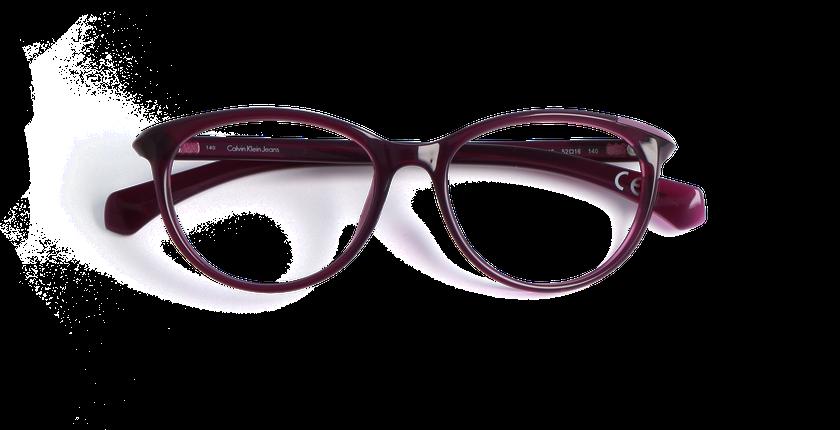 ... Lunettes de vue femme CALVIN KLEIN JEANS violet - Vue de face ... 8996415fd4bb