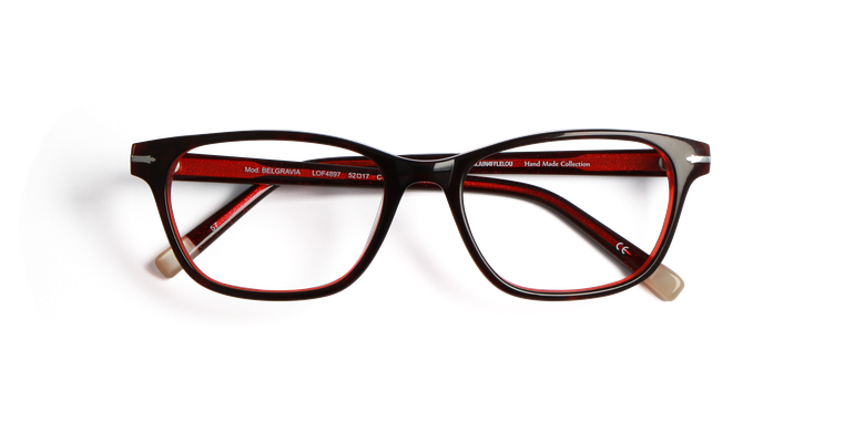 Lunettes de vue femme BELGRAVIA rouge