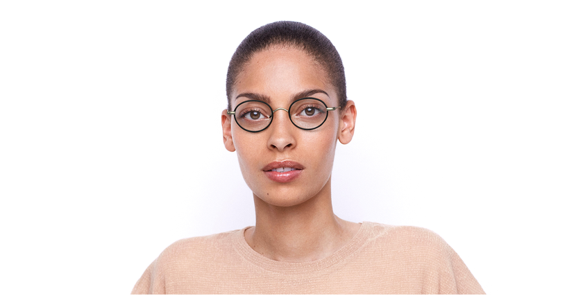 Óculos graduados PUCCINI GD dourado/vermelho - Vista de frente