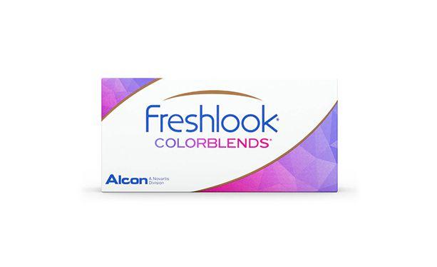 Lentilles de contact FreshLook ColorBlends Honey 2L - Vue de face