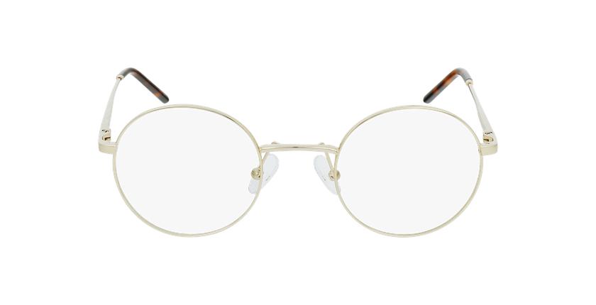Óculos graduados homem SVEN GD (TCHIN-TCHIN +1€) dourado - Vista de frente