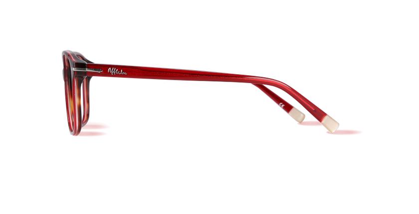 Lunettes de vue femme BERKELEY rouge/écaille - Vue de côté