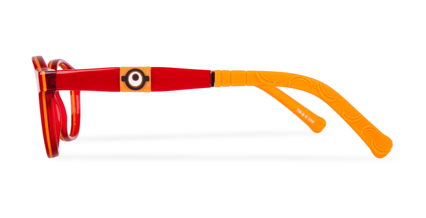 Lunettes de vue enfant CARL1 rouge/orange - Vue de côté