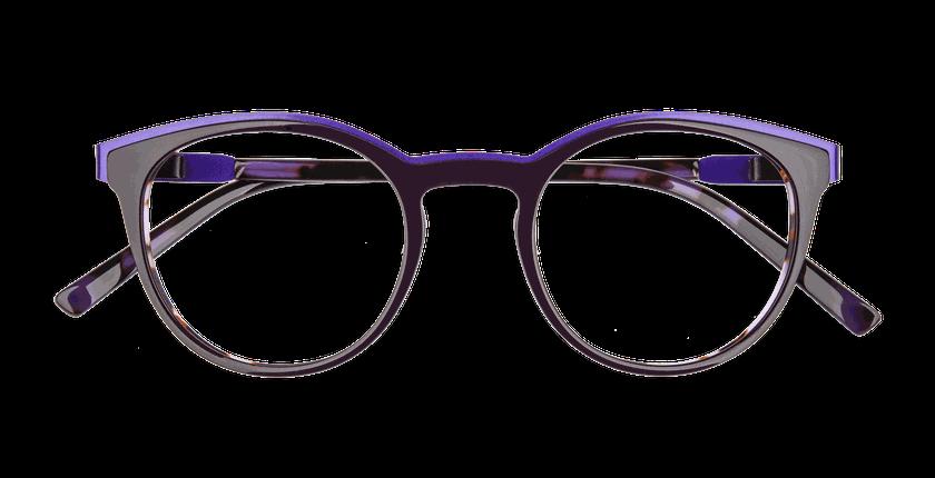 Lunettes de vue femme ALPHA8 violet - Vue de face