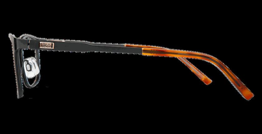 Lunettes de vue femme ALPHA5 noir - Vue de côté