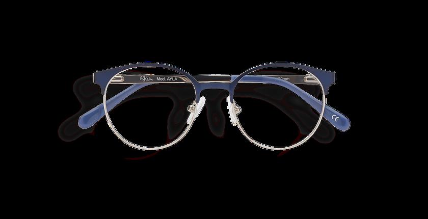 5135e0931 ... Óculos graduados criança AYLA azul azul/prateado - Vista de frente ...