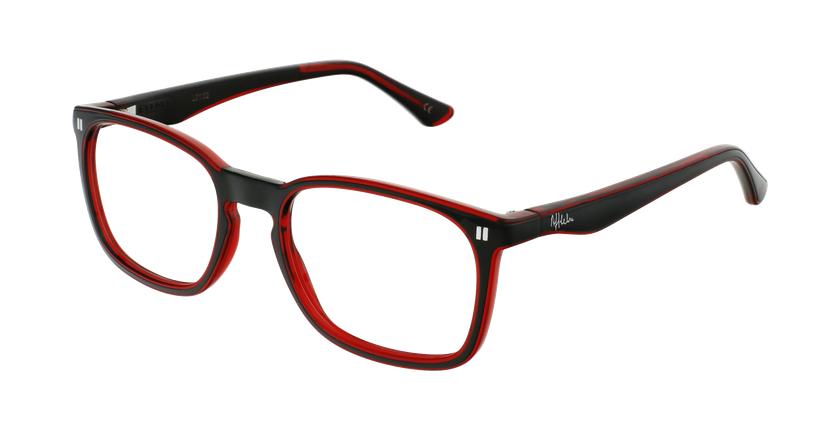 Óculos graduados criança REFORM TEENAGER (J2BKRD) preto/vermelho - vue de 3/4