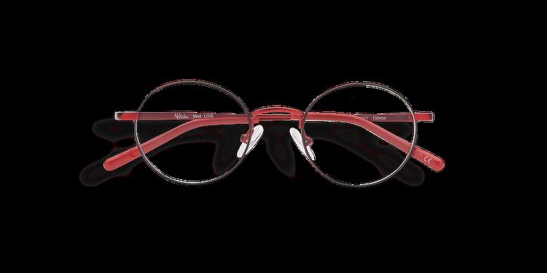 Óculos graduados criança LOIS vermelho vermelho/preto