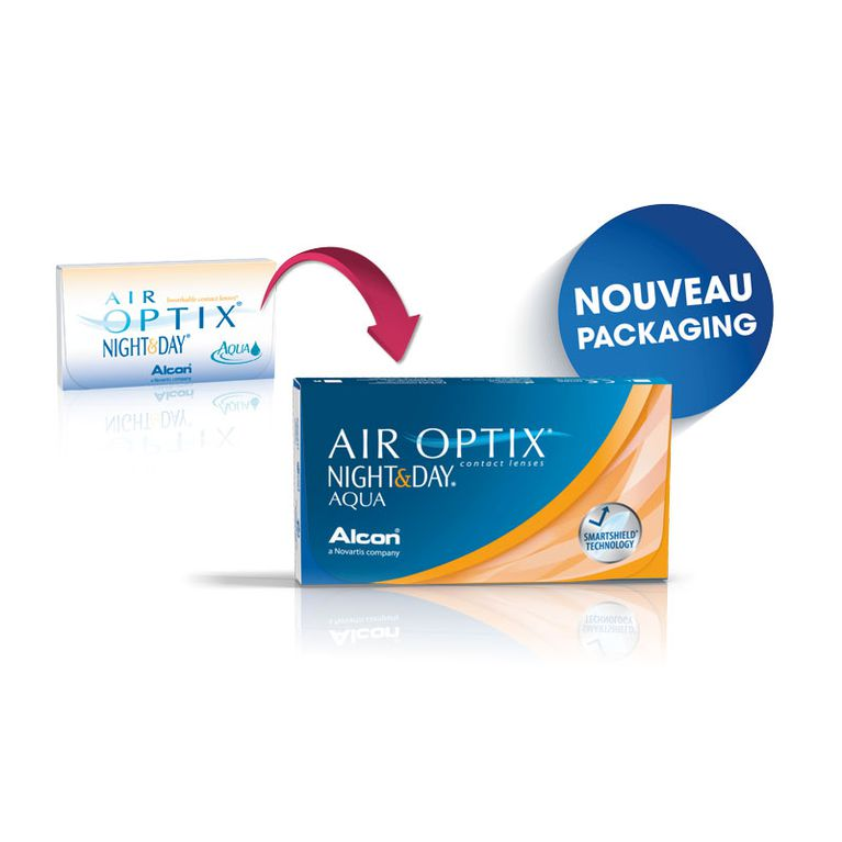 Lentilles de contact Air Optix Aqua Night Day 6L