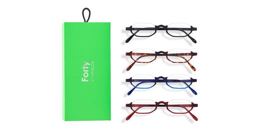 Óculos graduados FORTY PACK VERDE PRÉ GRADUADOS  (DE +1.00 A +3.00) verde - Vista de frente